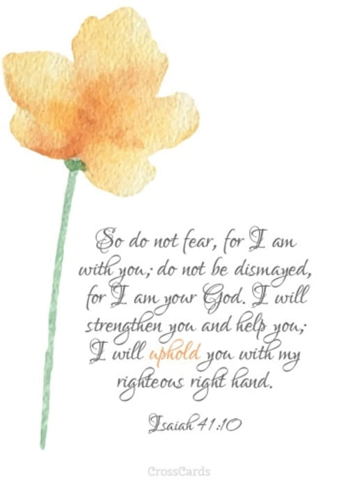 Do Not Fear for I Am with You - Printable