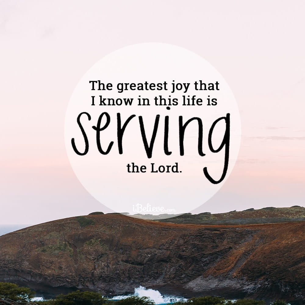 Praise songs about serving