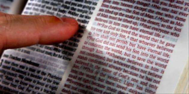 Never Read a Bible Verse