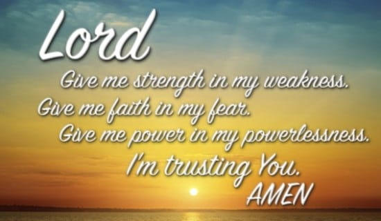 prayers for strength powerful words of hope healing