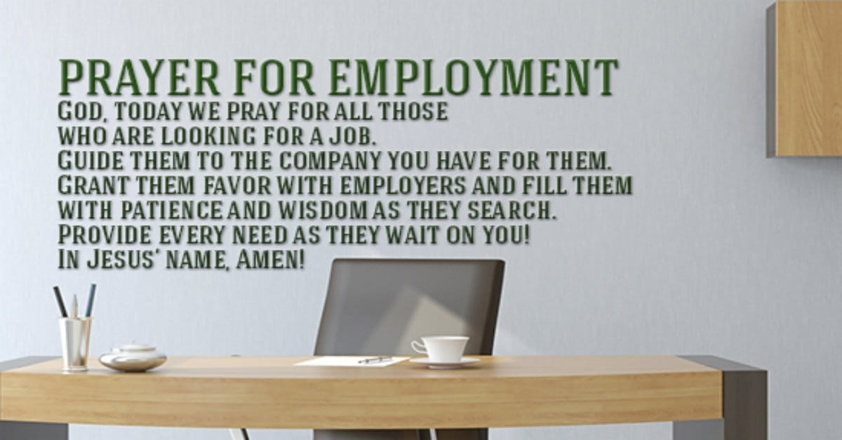 A Powerful Prayer for Employment & New Job