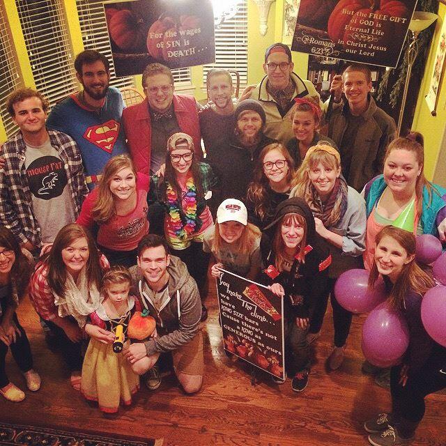 Kelly Needham's group photo for Halloween