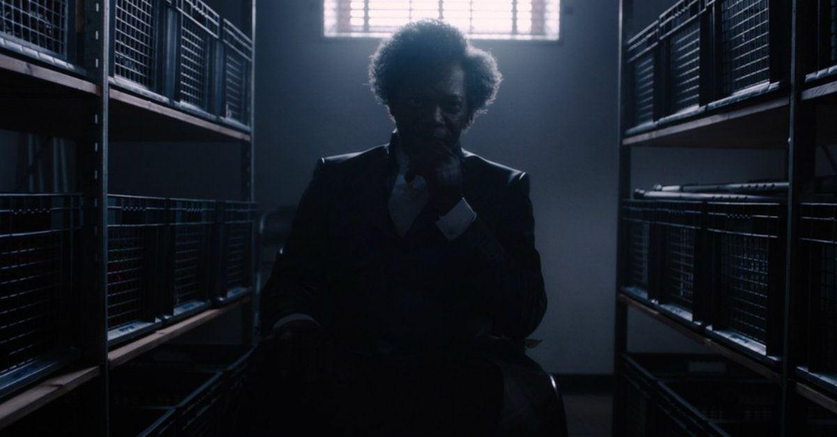 Elijah Price (Samuel L. Jackson) dons his villain suit