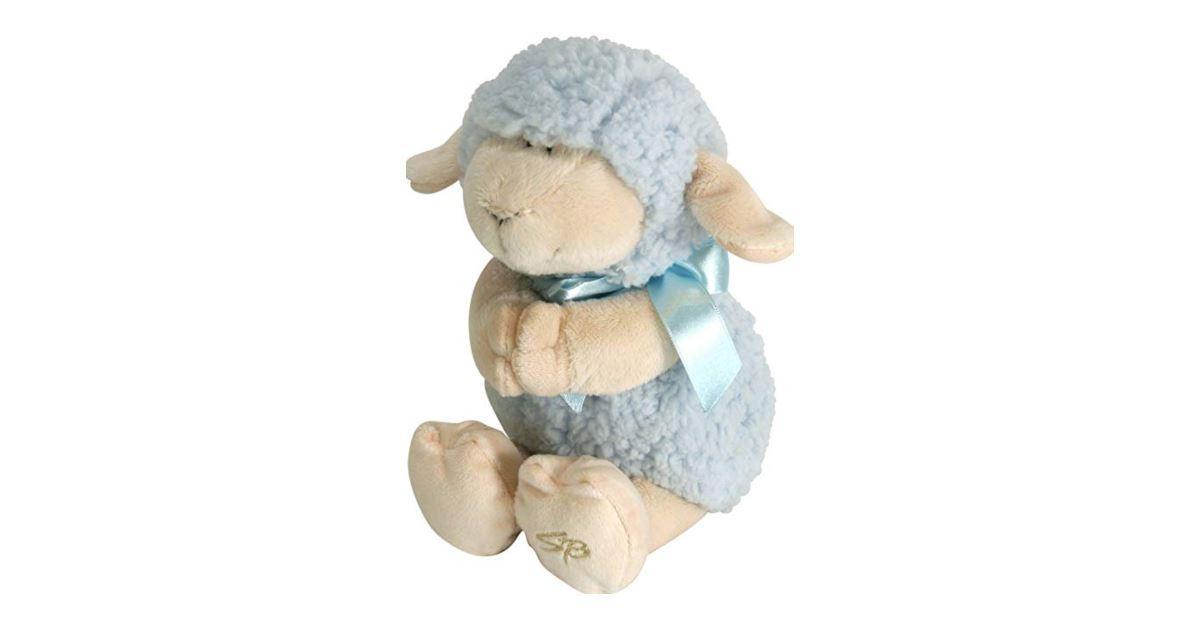 Musical Praying Wooly Lamb
