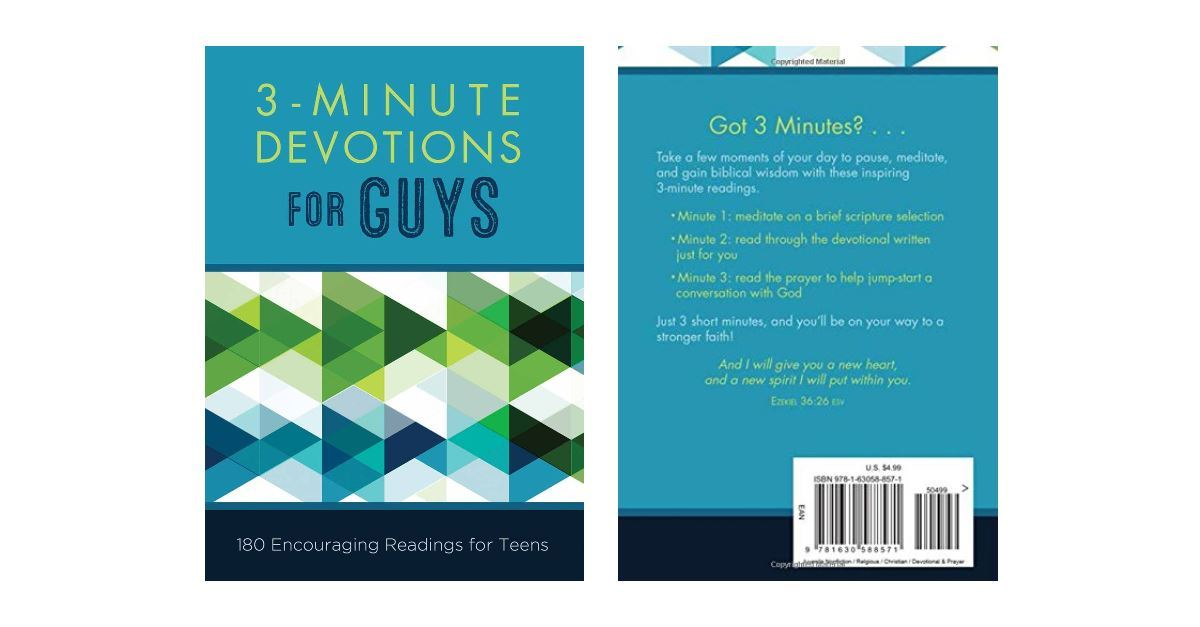 3 Minute Devotionals For Guys