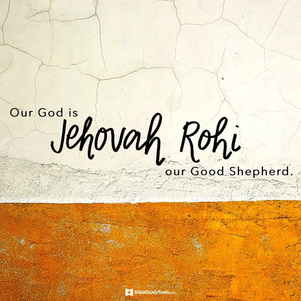 Jehovah Rohi God Is Our Good Shepherd Your Daily Bible Verse