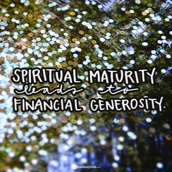 Spiritual Generosity - Bible Study Minute - March 7, 2018