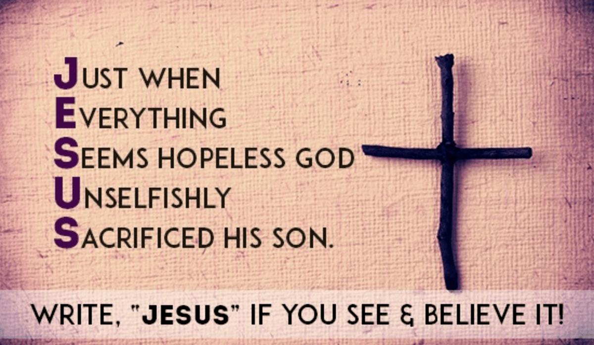 God Sacrificed His Son
