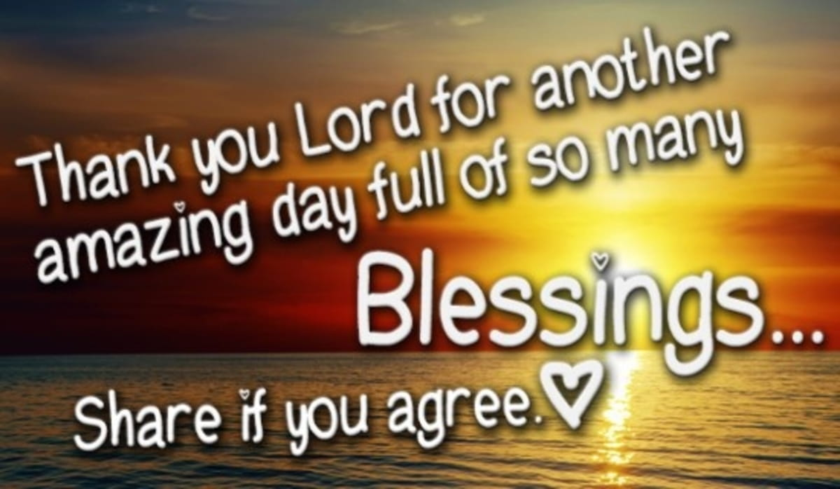 Thank You Lord for an Amazing Day