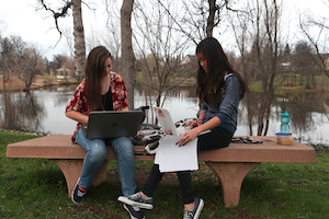 Simpson University students outside, top colleges in CA