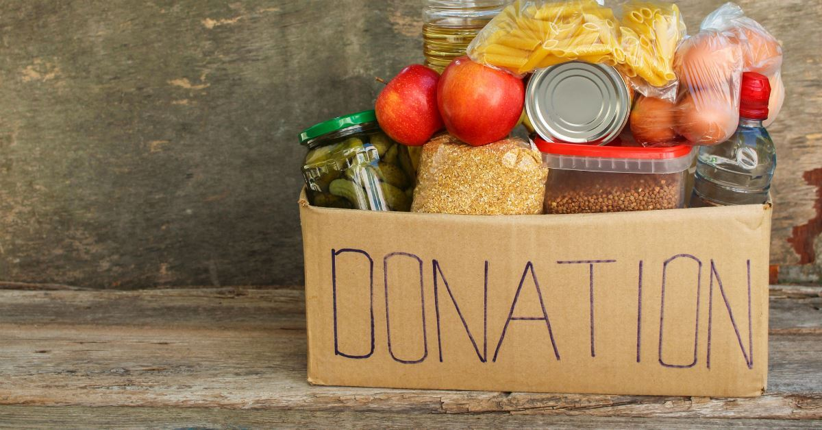 6. Organize a neighborhood food drive.