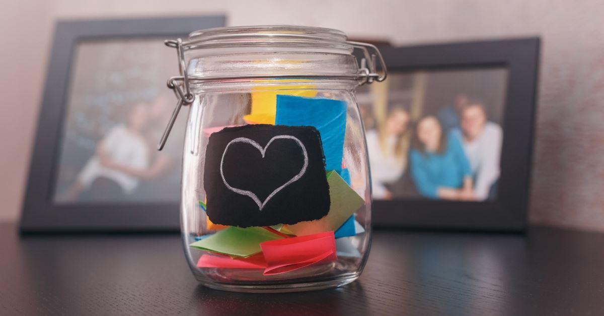 5. Create an encouragement jar for rainy days.