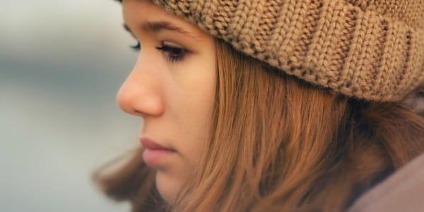 Sad Young Woman Brown 600