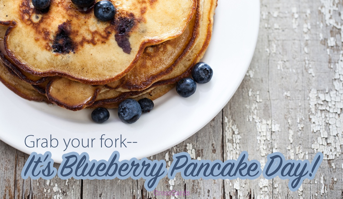 Happy Blueberry Pancake Day (1/28) ecard, online card