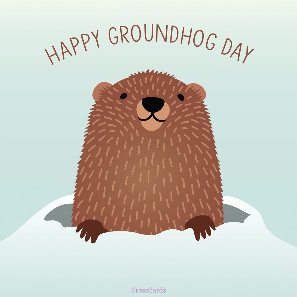 Happy Groundhog Day! (2/2) ecard, online card