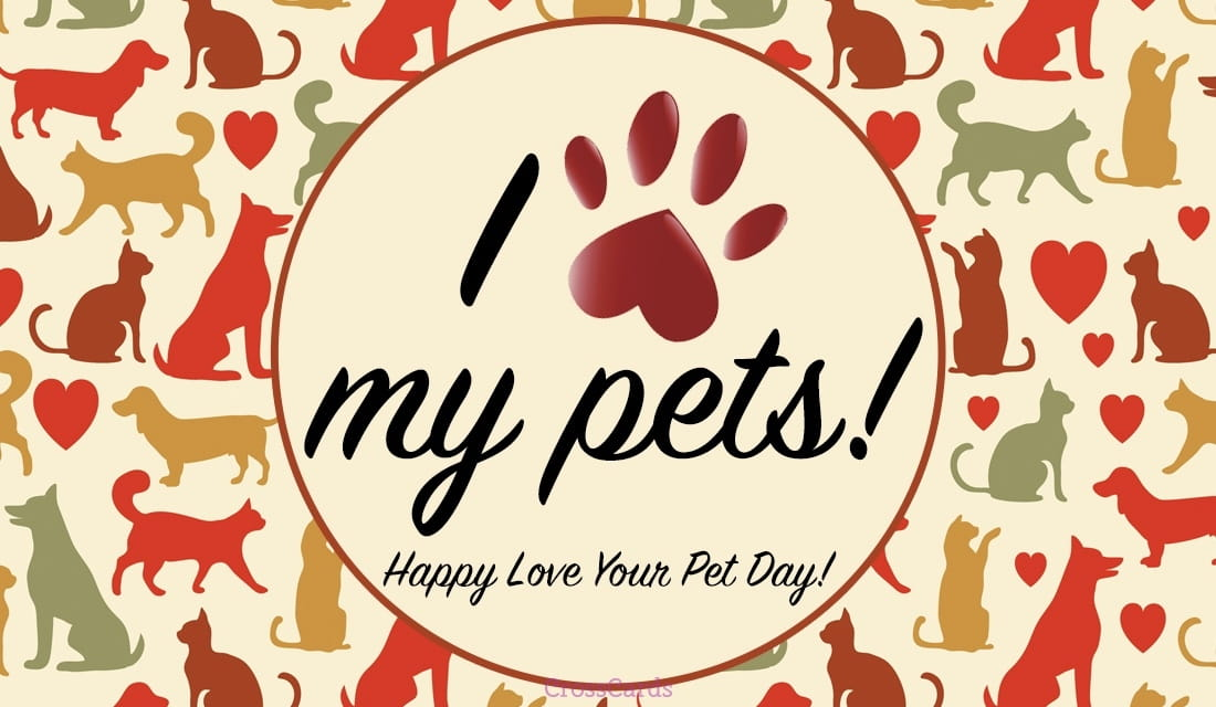 Happy Love Your Pet Day! (2/20) ecard, online card