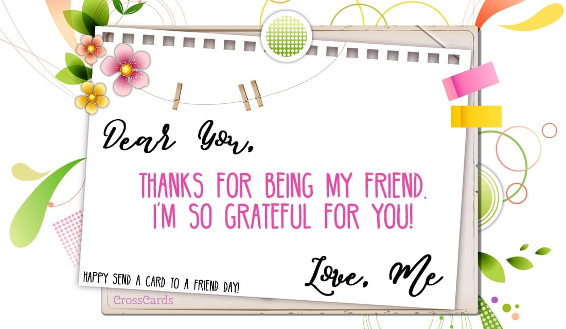 Happy Send a Card to a Friend Day! (2/7) ecard, online card