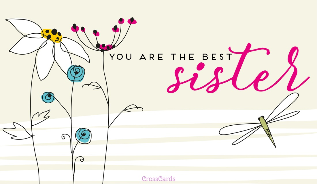 To the Best Sister ecard, online card