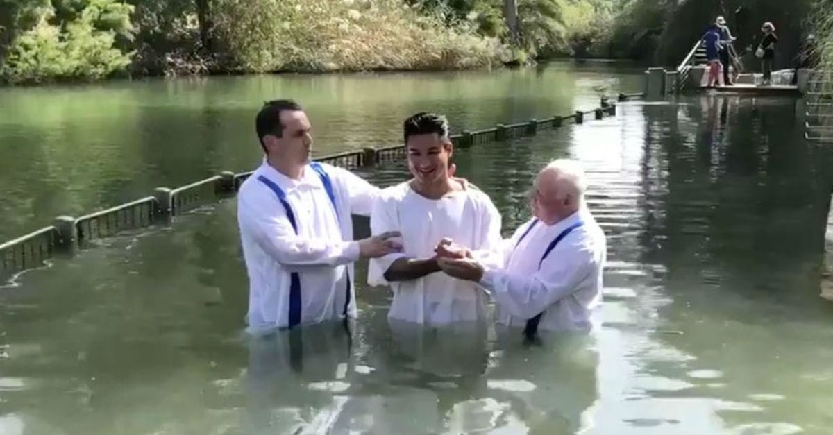 Mario Lopez Gets Baptized (in the Same River As Jesus!)