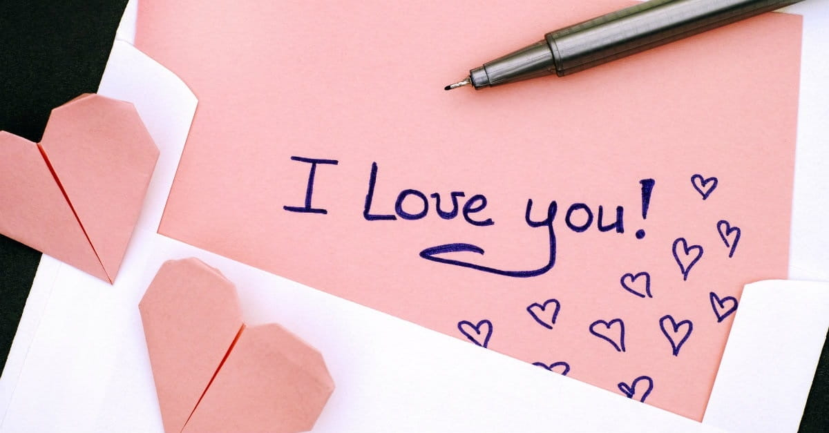 """2. Leave little notes simply saying """"I love you."""""""