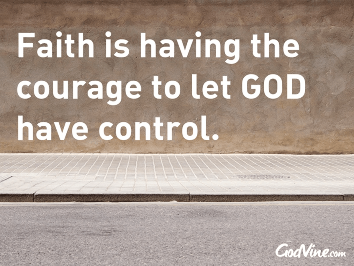 Courage to Give Up Control