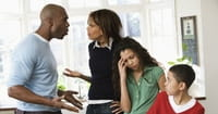 4. Don't let the kids see you and your spouse argue.