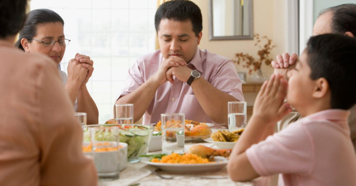 1. Invite God to be part of your mealtime.