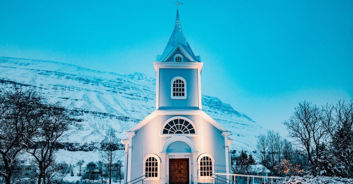 church in winter, meaningful Christmas