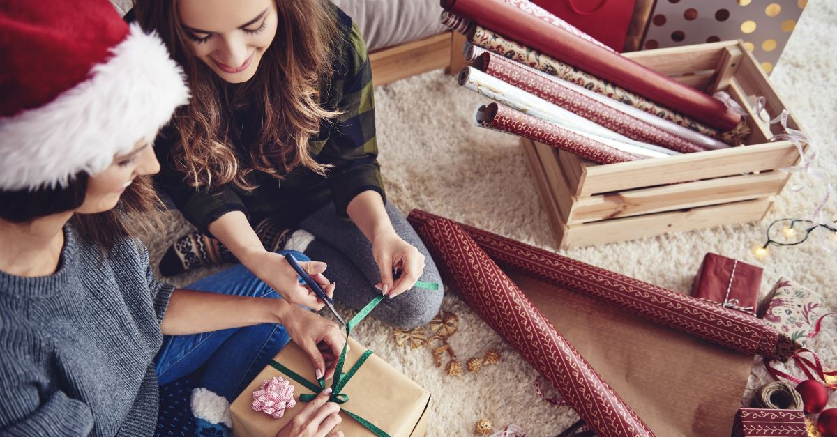 Host a wrapping party.