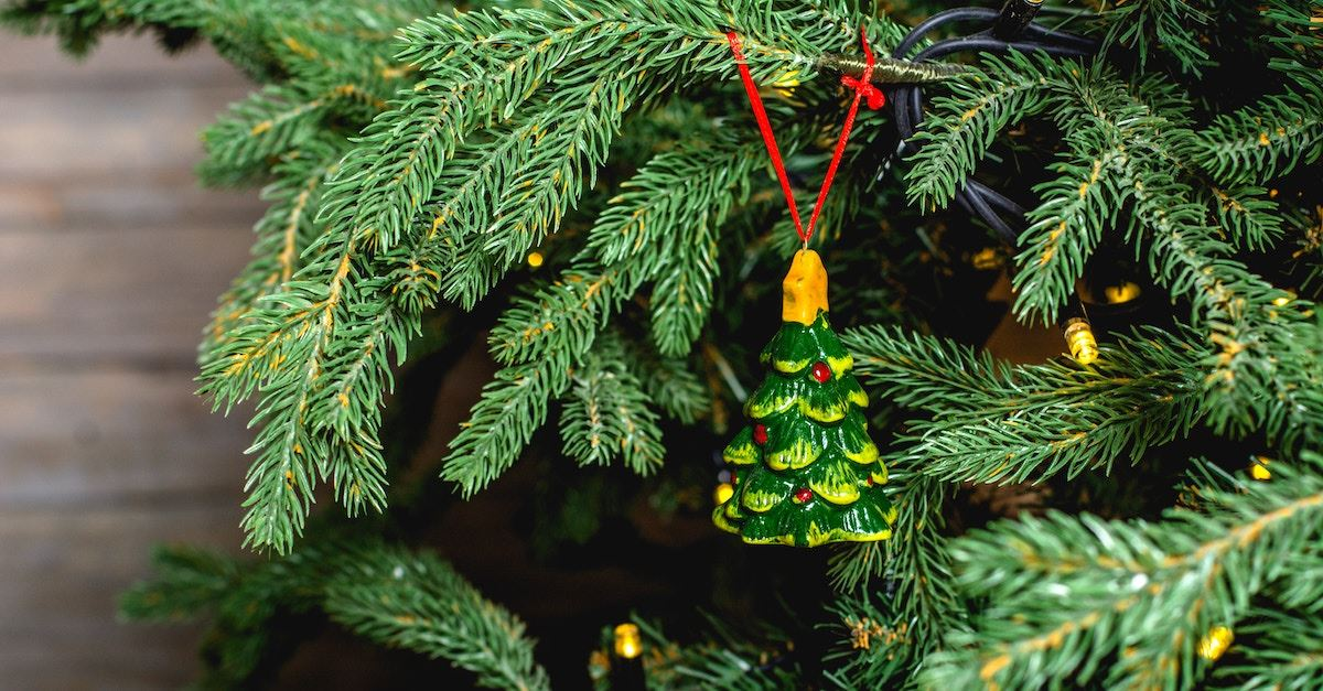 Christmas tree with Christmas tree ornament