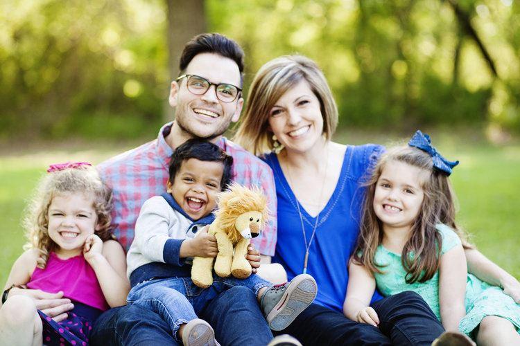 Kelly Needham, her husband Jimmy, and their three children