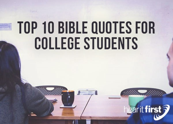 top 10 bible quotes for college students