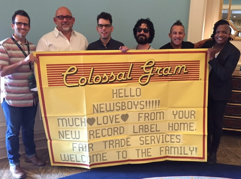 Newsboys Celebrate signing with Fairtrade Services