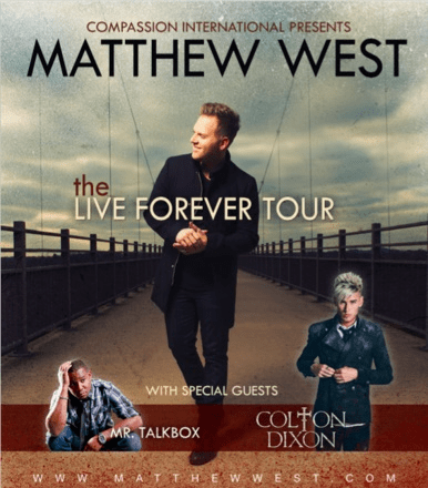 Matthew West Announces The Live Forever Tour with Colton Dixon and Mr. Talkbox