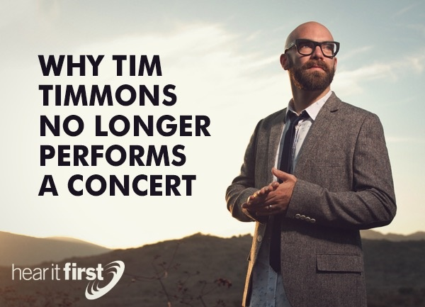 Why Tim Timmons No Longer Performs a Concert