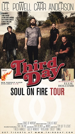"Third Day Announces ""Soul On Fire Tour"" for Spring 2015"