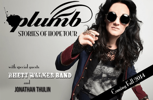 Plumb announces the Stories of Hope tour, with special guests Rhett Walker Band and Jonathan Thulin