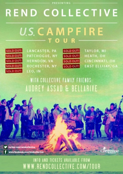 """Rend Collective """"Campfire"""" Tour Sparks Sold-Out Events Internationally As Band Prepares For New Studio Album, THE ART OF CELEBRATION"""