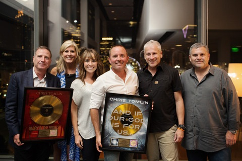 GRAMMY® Winner Chris Tomlin Celebrates RIAA Gold Certifications for And If Our God Is For Us… and  Glory In the Highest: Christmas Songs of Worship