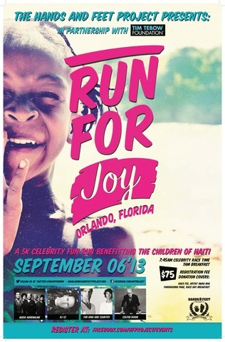 """The Hands & Feet Project Announces """"Run For Joy"""" Celebrity 5K Race on September 6 in Orlando"""