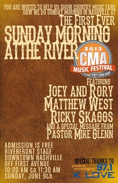 "Matthew West to Perform at First-Ever ""Sunday Morning At The River"" at CMA Music Festival on June 9"