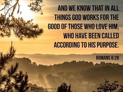 Romans 8:28 - And we know that in all things God works for th...