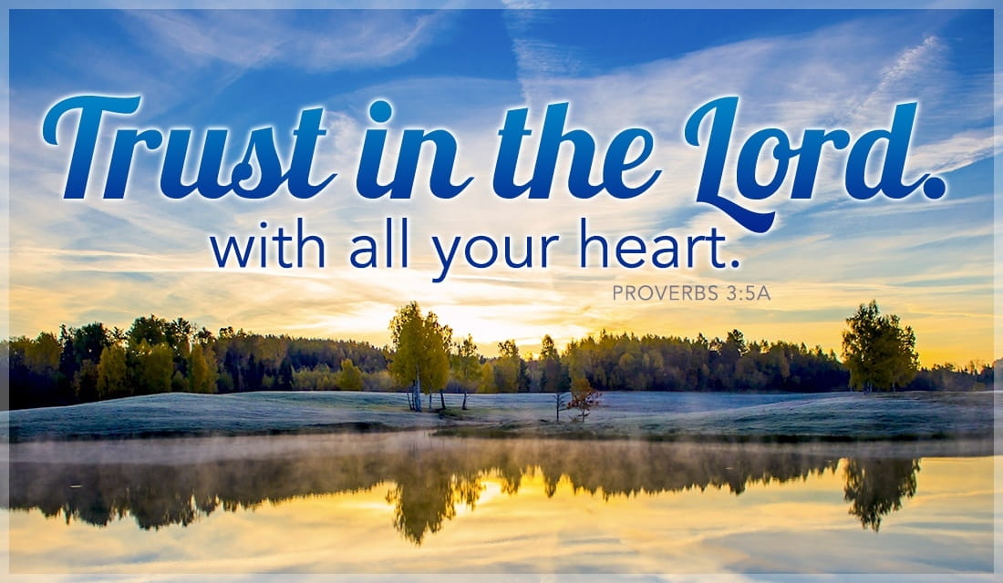 Trust in the Lord with All Your Heart!  ecard, online card