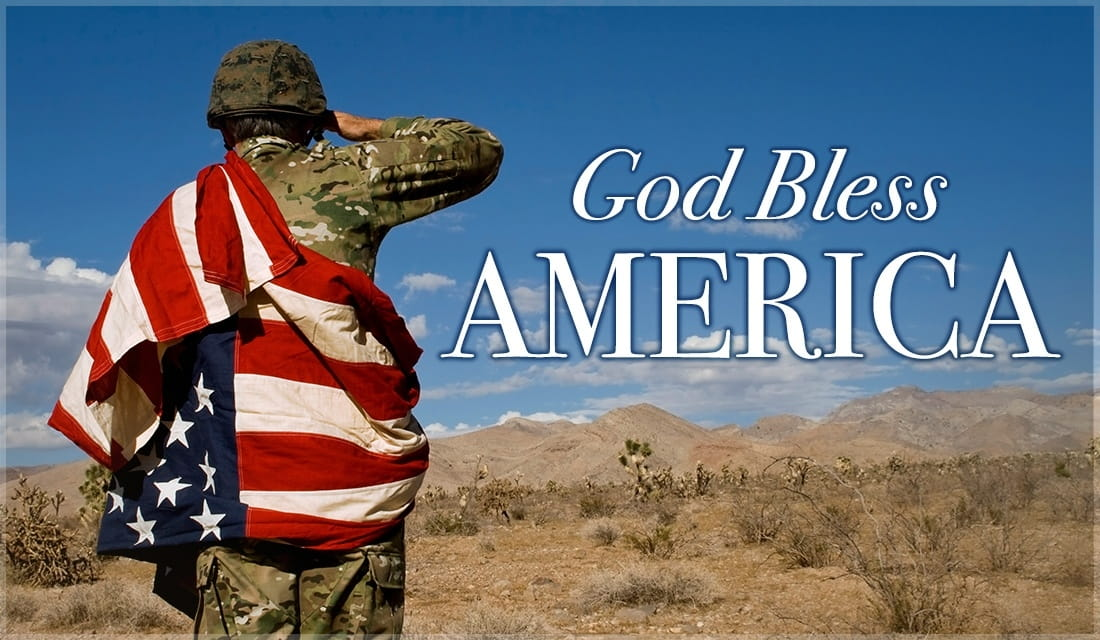 God Bless America ecard, online card