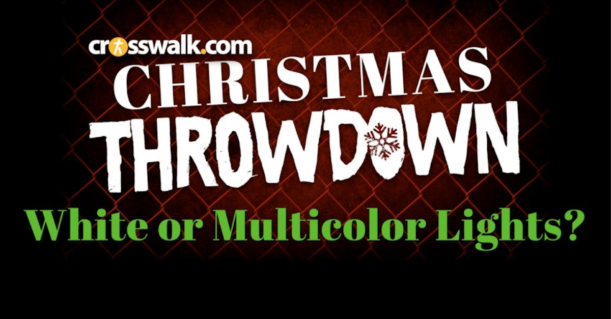 Crosswalk Christmas Throwdown Pt 3: White or Multicolor Lights?