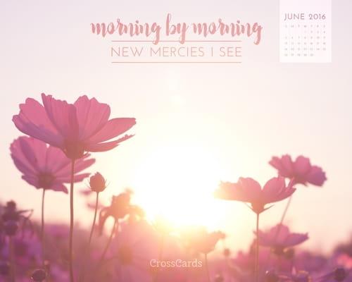 June 2016 - New Mercies I See mobile phone wallpaper