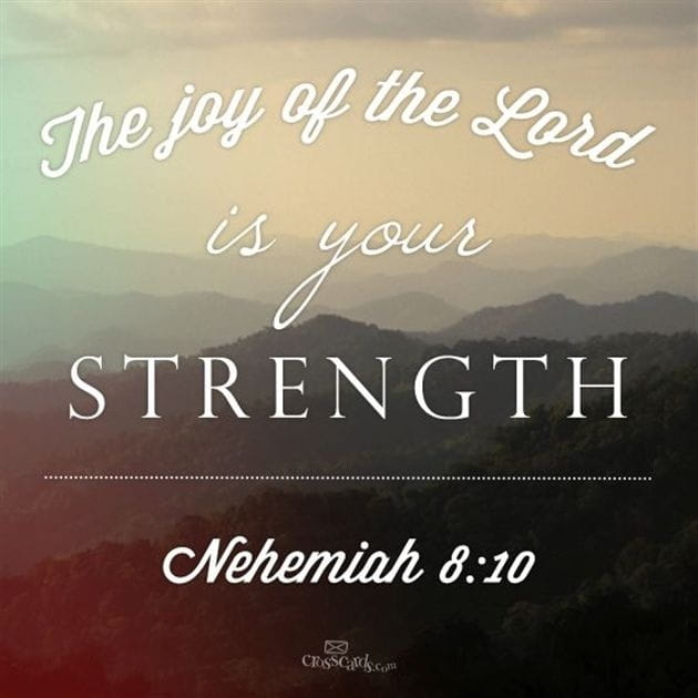 Your Daily Verse - Nehemiah 8:10