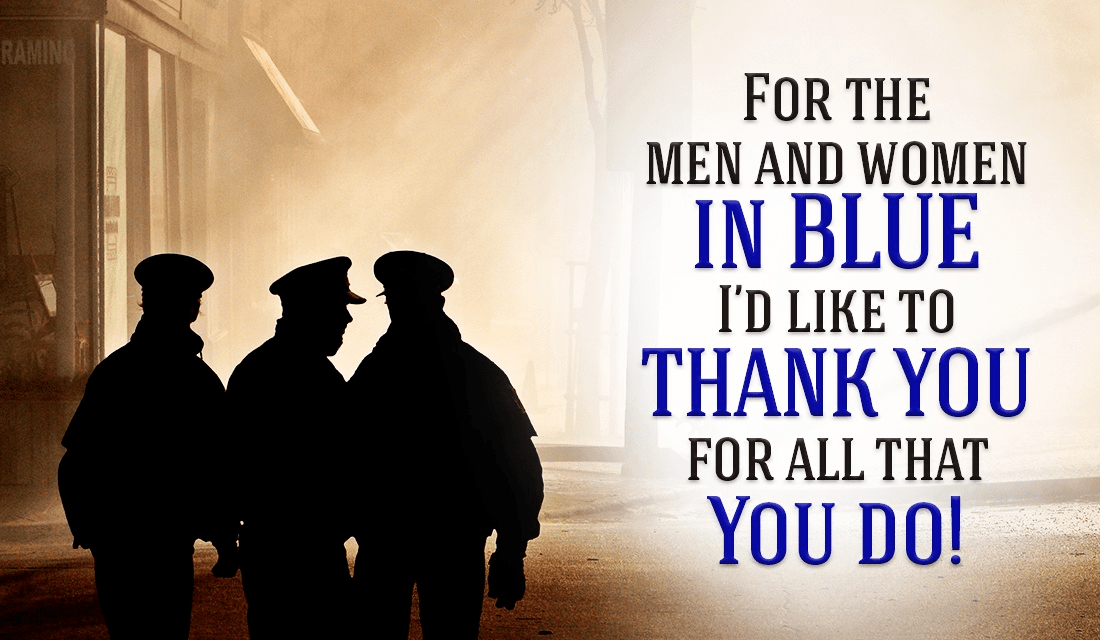 To Our Men and Women in Blue - Thank You!  ecard, online card