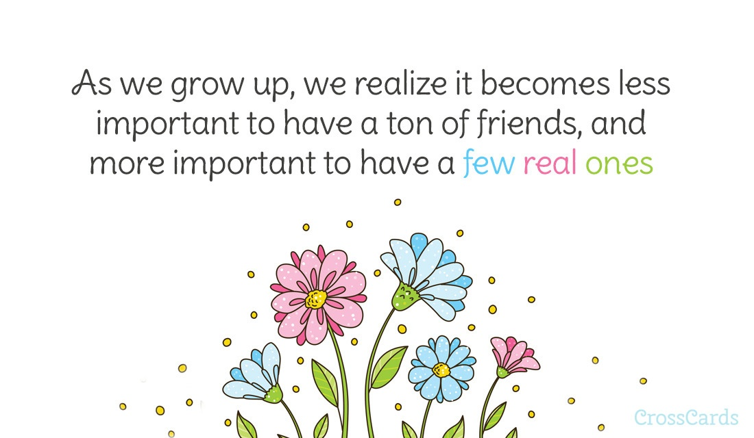 Thanks for Being a Real Friend ecard, online card