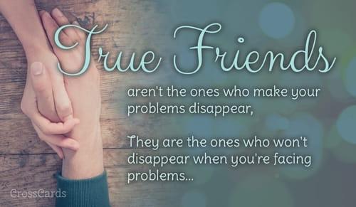 free you are my true friend ecard